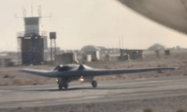 Lockheed Martin RQ-170 UAV The beast of Kandahar unmanned secret classified stealthy reconnaissance surveillance ISR vehicle Michael Yon operational on runway