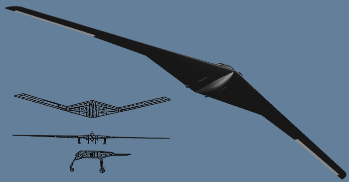 Loral Western Development Labolatories Frontier Systems W570 WS570A stealthy stealth UAV unmanned aerial vehicle reconnaissance surveillance Tier II Plus proposal competitor modification
