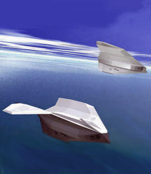 Lockheed submersible UCAV study submarine project aircraft plane vehicle