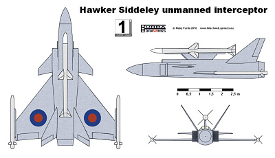 Hawker Siddeley UCAV unmanned anti-aircraft combat vehicle interceptor study proposal RPV