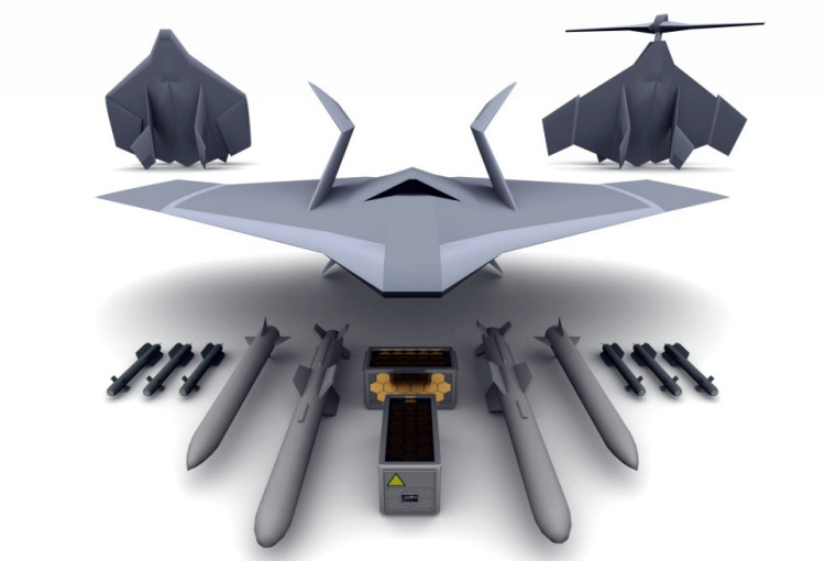 Novel Air Concepts Vision UAV UCAV Royal Air Force Navy RAF RN unmanned combat air vehicle program proposal experimental prototype VTOL stealth urban canyon frigate