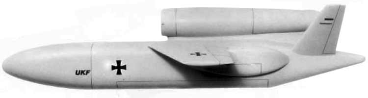 Dornier german remortely piloted armed UAV UCAV Luft Angriffs RPV UKF Unbemanntes KampfFlugzeug unmanned combat air vehicle AGARD