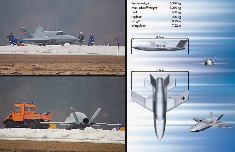 EADS Barracuda UCAV technology demonstrator prototype german umnanned combat air vehicle UAV stealth