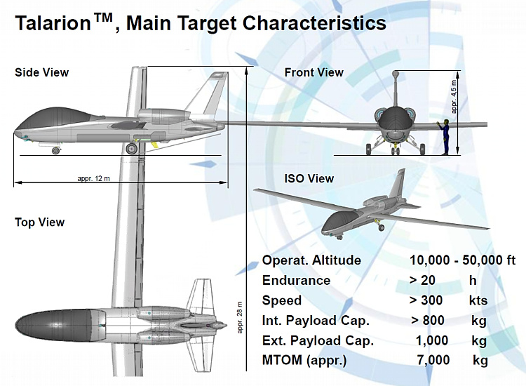 EADS Talarion UAV UAS unmanned vehicle concept advanced airplane aeroplane