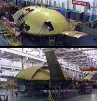 EKIP Tarielka flying saucer UFO russian flying vehicle Lev Shukin