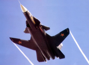Suchoj Sukhoi Su-47 Berkut S-37 FSW forward swept wing fighter demonstrator prototype
