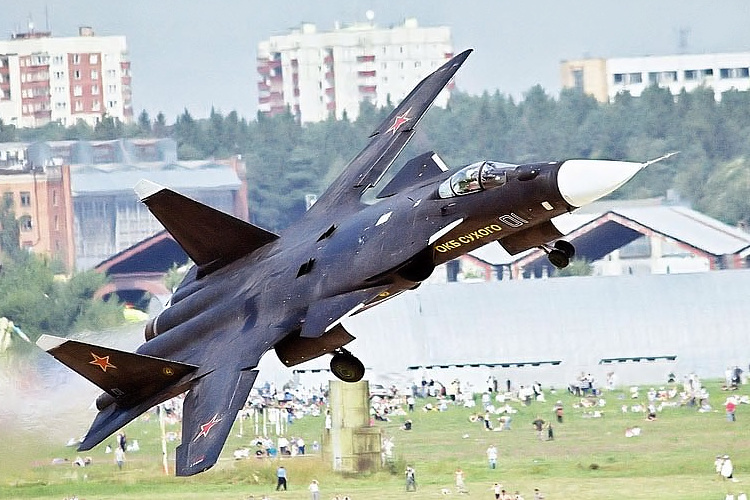 Sukhoi Suchoj Su-47 S-37 Berkut FSW forward swept wing prototype fighter demonstrator