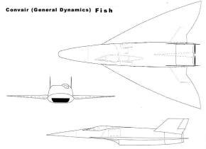 General Dynamics Fish B-58B Super Hustler ramjet powered reconnaissance parasite  plane