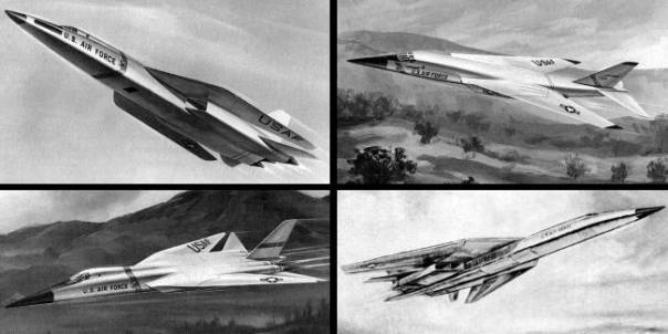 North American Rockwell AMSA advanced manned strategic aircraft bomber study proposal