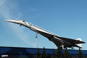 Tupolev Tu-144 full view supersonic passanger aeroplane