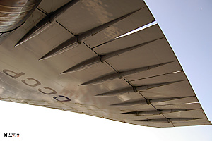 Tupolev Tu-144 wing detail photo supersonic passanger aeroplane
