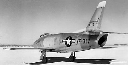 North American YF-93A XF-93A F-86C fighter