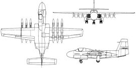 Douglas D-9766 missileer F6D-1 project proposal navy AAM-N-10 Eagle missile launcher carrier based aircraft
