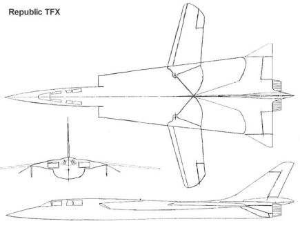 Republic TFX proposal fighter bomber tactical program experimental mockup