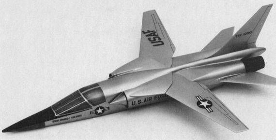 General Dynamics TFX model 1000 proposal fighter bomber USAF US Navy