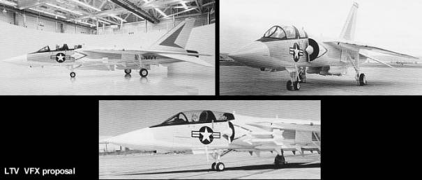 Ling Temco Vought LTV VFX proposal F-14 competitor navy fighter