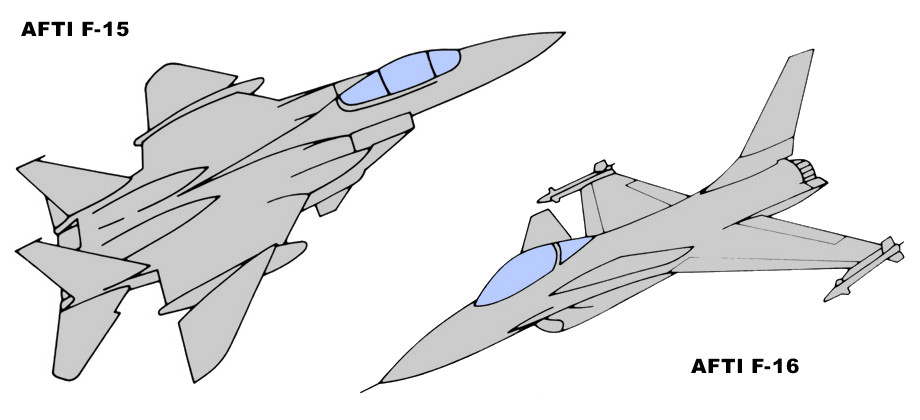 F-15 F-16 AFTI Advanced Fighter Technology Integration proposals