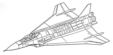 General Dynamics F-16XL SCAMP Model 400 original proposal study supersonic cruise and maneuver program fighter delta wing