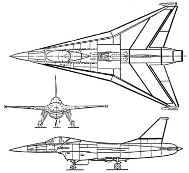 General Dynamics F-16XL SCAMP Model 400 original proposal study supersonic cruise and maneuver program fighter