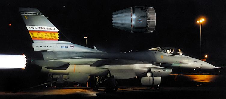 Lockheed Martin General Dynamics F-16 LOAN ejector nozzle testbed low observable stealth asymmetric JSF Fighting Falcon fighter