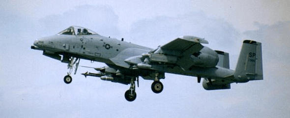 Fairchild Republic A-10A attack plane USAF