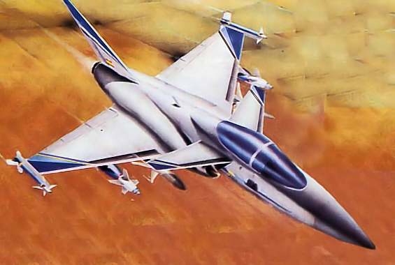 CASA AX fighter attack final late canard delta study spain
