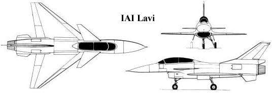 IAI Lavi fighter Izrael 3 view