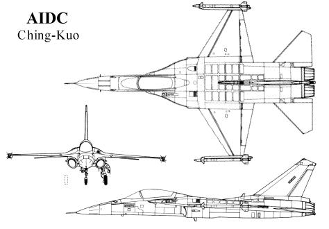 AIDC Ching-Kuo 3 three view