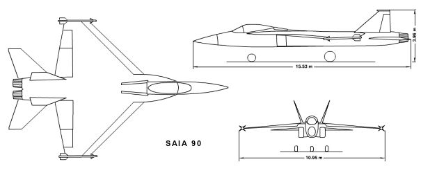 FAME SAIA 90 stealthy argentinian fighter project advanced