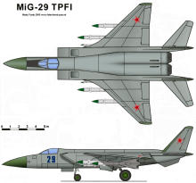 MiG-29 9 TPFI heavy perspective tactical fighter interceptor soviet