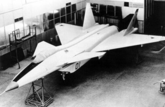 MiG MFI 1.44 demonstrator fighter aircraft mockup russian soviet stealth