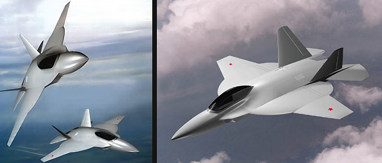 Mukhamedov OKB Integral I-2000 fighter design patent two engines stealthy moderné ruské stíhačky