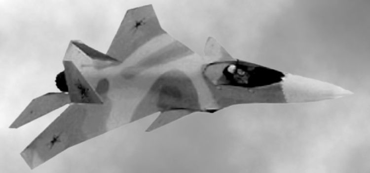 Sukhoi post-LFS pre-PAK FA fighter study (cca 1999) single engine russian stealth proposal