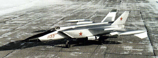 MiG-25 E-155R-1 reconnaissance high speed fighter aircraft plane red 1155 prototype