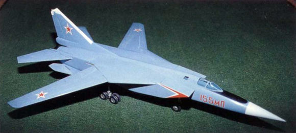 MiG E-155MP Ye-155MP modifikovanyi Pjerechvatchik variable geometry wing istrebitel fighter