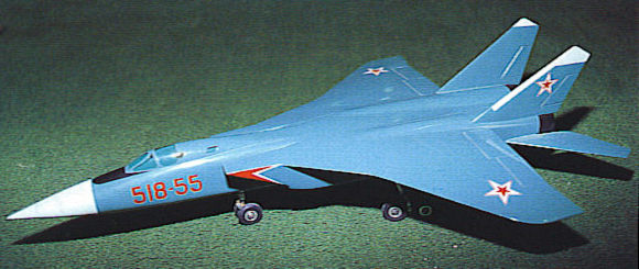 MiG izdelije 518-55 fighter proposal MiG-31 alternative model