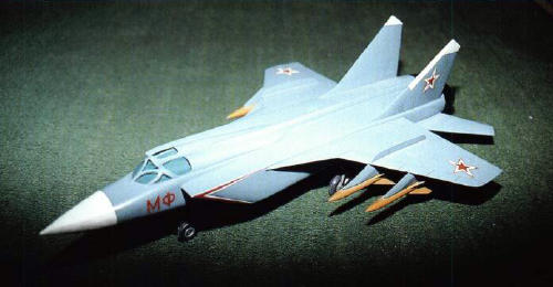 MiG E-155MF modified attack version MiG-31 fighter bomber