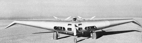 Northrop N-1M flying wing flyingwing experimental aircraft plane