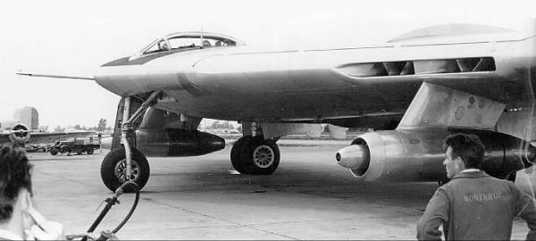 Northrop RB-49 reconnaissance USAF aircraft flying wing