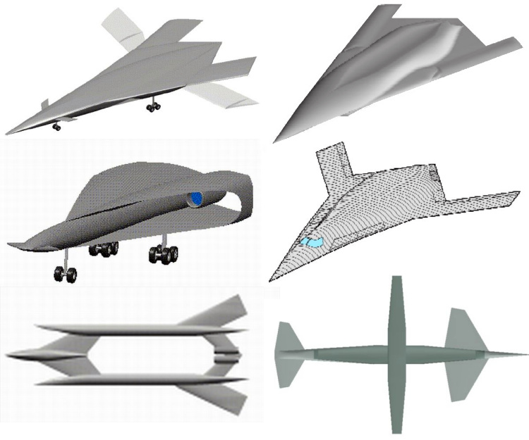 Boeing QSP studies quiet supersonic platform bomber dual role program DARPA stealth stealthy sonic boom supression reduction americký bombardér nadzvukový tresk