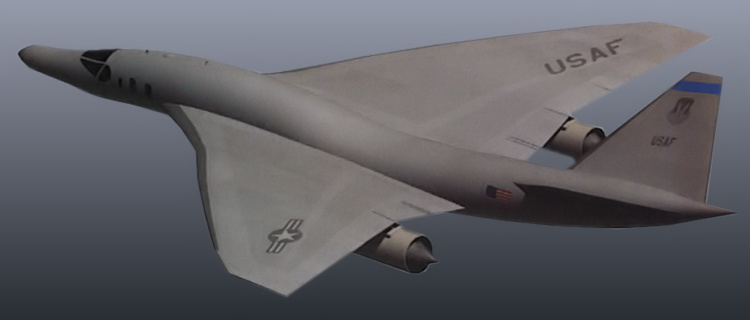 Lockheed Martin QSP studies quiet supersonic platform bomber dual role program DARPA stealth stealthy sonic boom supression reduction americký bombardér nadzvukový tresk