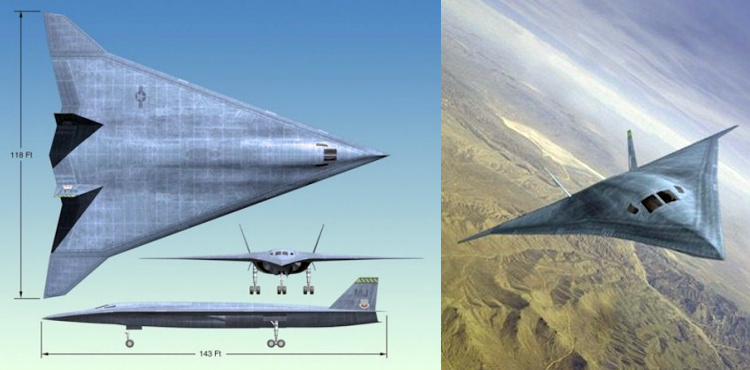 Northrop Grumman future strike aircraft bomber supersonic stealth stealthy advanced USAF americký bombardér