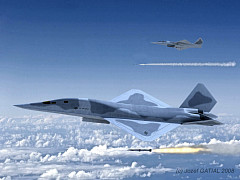 Northrop Grumman FB-23 tactical interim bomber YF-23 derivate future strike aircraft stealth