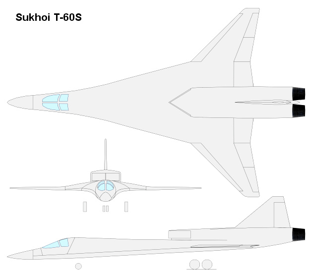 Sukhoi Suchoj T-60S advanced tactical bomber russian soviet stealth stealthy moderné ruské bombardéry Oleg Samojlovič low observable russian