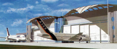 Airbus A3XX high capacity airliner aircraft plane project study program