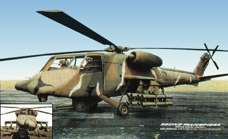 Boeing Vertol Grumman Aerospace AAH advanced attack helicopter proposal mockup prototype
