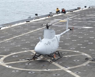 Northrop RQ-8A Fire Scout VTUAV on board the ship US Navy