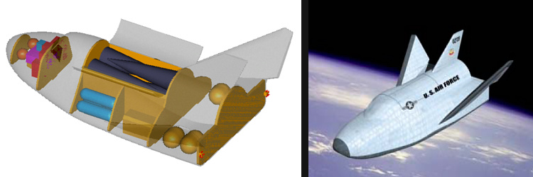 OSC Orbital military Space Taxi shuttle SMV maneuver vehicle 2002 presentation modification CAVs armed