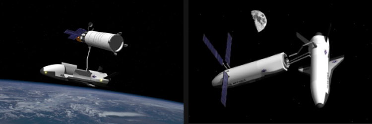 SMV space maneuver vehicle satellite reposition and refueling