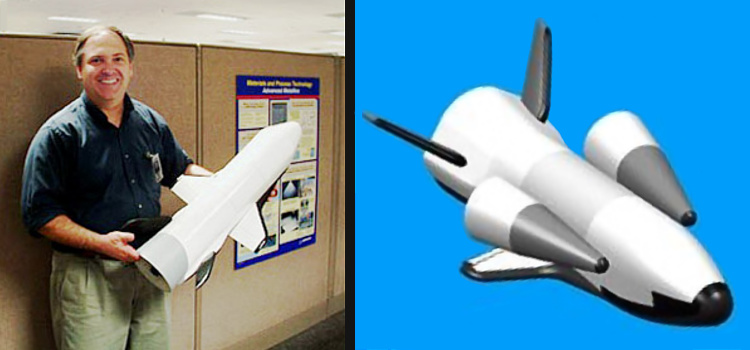 Rockwell Boeing ReFly reusable flyback satellite spaceplane USAF military shuttle reusable raketoplán David J. File